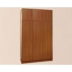 Шкаф для одежды 3-створчатый с антресолью на рег.ножках