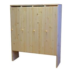 Шкаф детский в раздевалку четырехсекционный