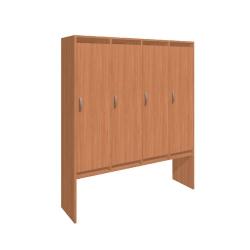 Шкаф для раздевалки четырехсекционный