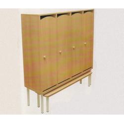Банкетка детская к 4-секционному шкафу с нишей на металлокаркасе