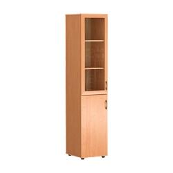 Шкаф узкий со стеклом