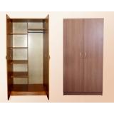 Шкаф для одежды 2-створчатый комбинированный