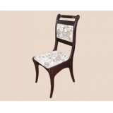 Стул МЕРГЕЛЬ 2 с мягким тканевым сиденьем