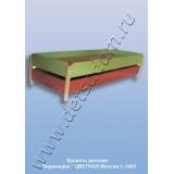 Кровать детская Пирамидка L-1400 Цветная (массив)