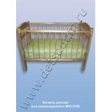 Кровать детская для новорожденного (массив)