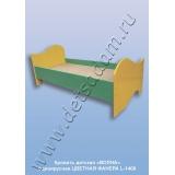 Кровать детская Волна одноярусная L-1400 Цветная (фанера)