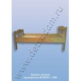Кровать детская одноярусная L-1200 (фанера)