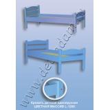 Кровать детская одноярусная L-1200 Цветная (массив)