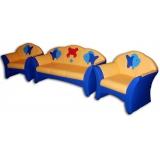 Комплект мягкой мебели «Карина» с аппликацией - Рыбки