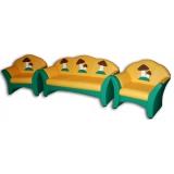 Комплект мягкой мебели «Карина» с аппликацией - Грибочки