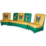 Комплект мягкой мебели «Мечта» с  аппликацией - Бабочки